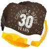 """Sparkle and Bash 100Pcs Cheers Beers to 30 Years Disposable Paper Napkin 6.5"""" for Birthday Party Décor Supplies - image 2 of 4"""