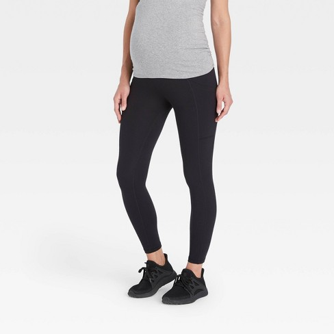 Crossover Panel with Pocket Active Maternity Leggings - Isabel Maternity by Ingrid & Isabel™ - image 1 of 4