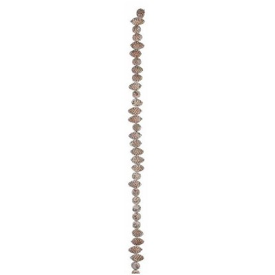 """Napco 6' x 2.75"""" Unlit Brown Frosted Pine Cone Artificial Christmas Garland"""