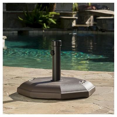 66-pounds Octagonal Concrete Patio Umbrella Base - Dark Brown - Christopher Knight Home