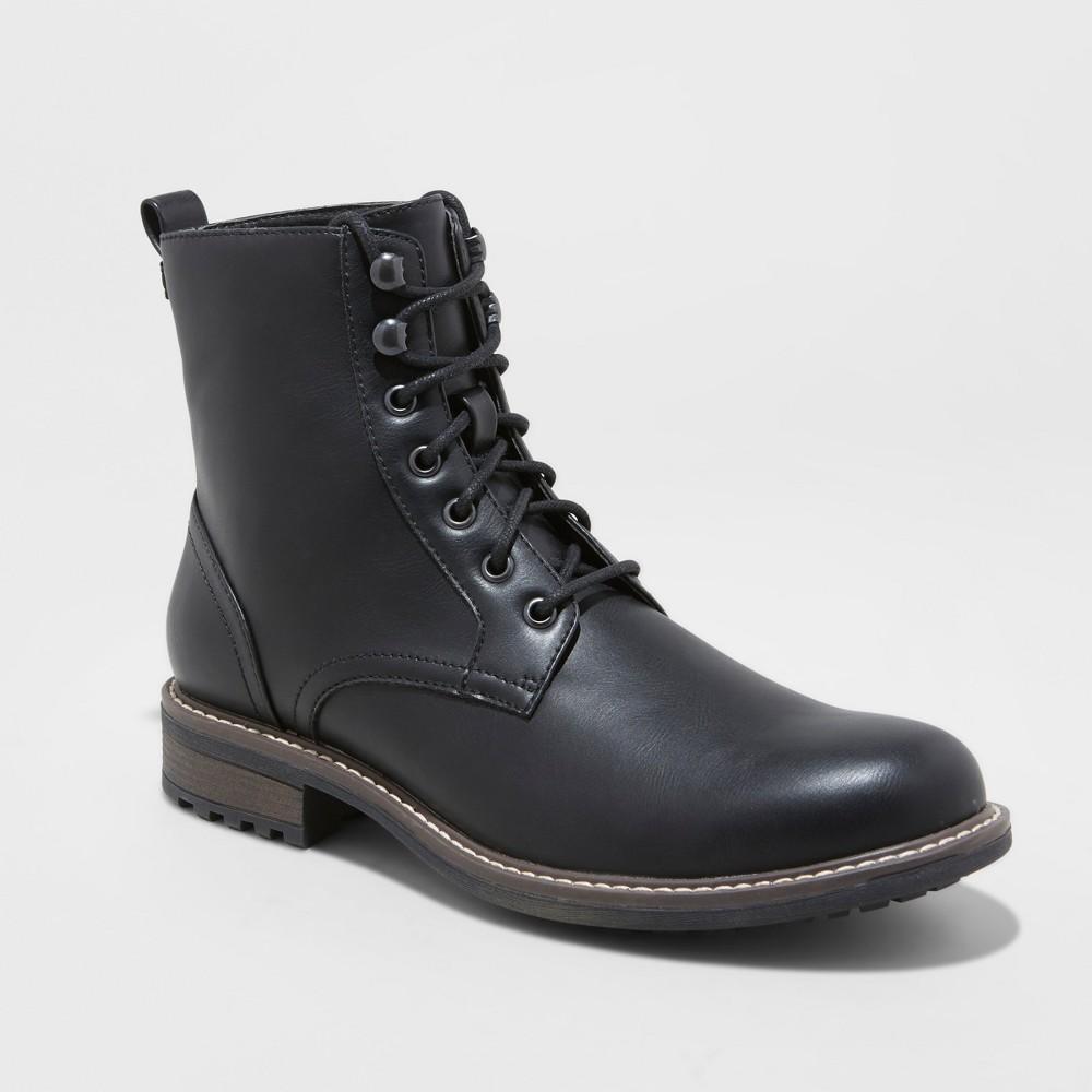 Men's Boston Casual Fashion Boots - Goodfellow & Co Black 10.5