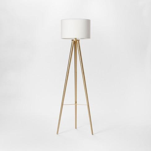 Delavan Metal Tripod Floor Lamp Brass  - Project 62™ - image 1 of 2