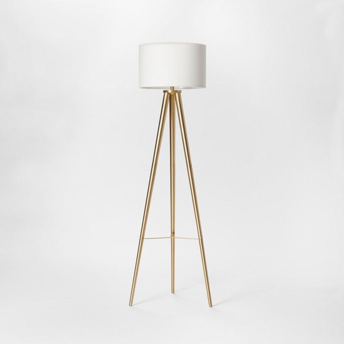 Delavan Metal Tripod Floor Lamp Brass Includes Energy Efficient Light Bulb - Project 62™ - image 1 of 2