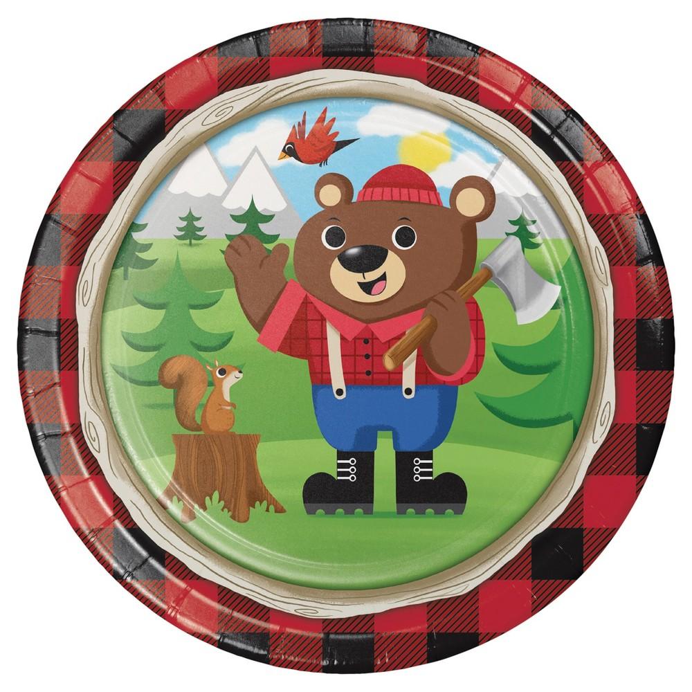Lum-Bear Jack 9 Paper Plates - 8ct