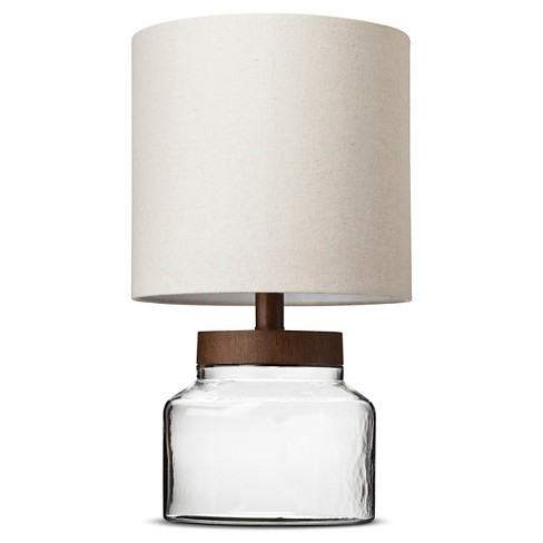 Fillable Glass Accent Lamp Clear - Threshold™ - image 1 of 5
