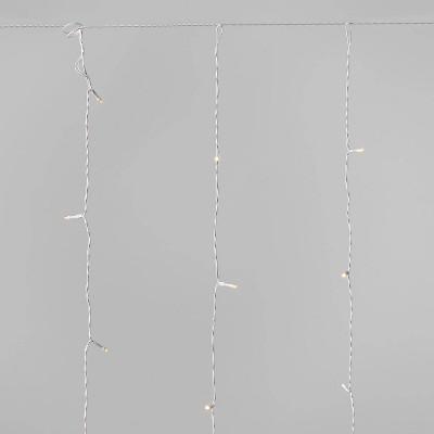 6ft Curtain Icicle LED Lights Warm White - Wondershop™
