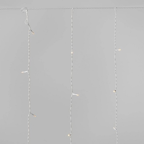 6ft Curtain Icicle LED Lights Clear - Wondershop™ - image 1 of 2