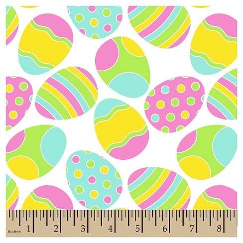 "Easter Tossed Eggs, Multi Bright, 100% Cotton, 43/44"" Width, Fabric by the Yard - image 1 of 1"