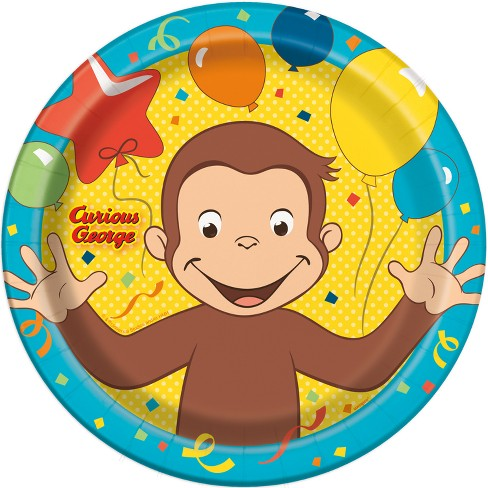8ct Curious George Dinner Plates - image 1 of 1