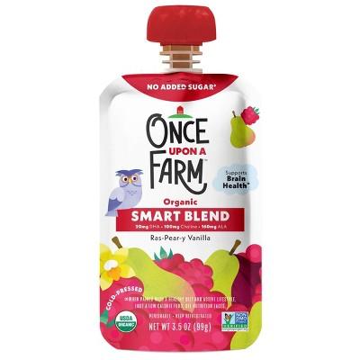 Once Upon a Farm Organic Ras-Pear-y Vanilla Smart Blend 12+ Months - 3.5oz Pouch