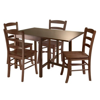 5pc Drop Leaf Dining Table Set Wood/Antique Walnut - Winsome