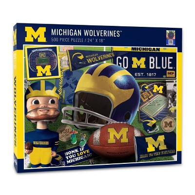 NCAA Michigan Wolverines Throwback Puzzle 500pc