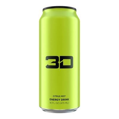 3D Citrus Mist Energy Drink - 16 fl oz Can