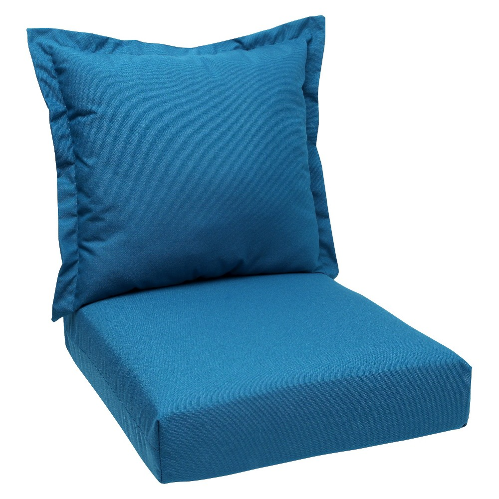 Spectrum 2pc Outdoor Deep Seating Cushion - Peacock - Sunbrella