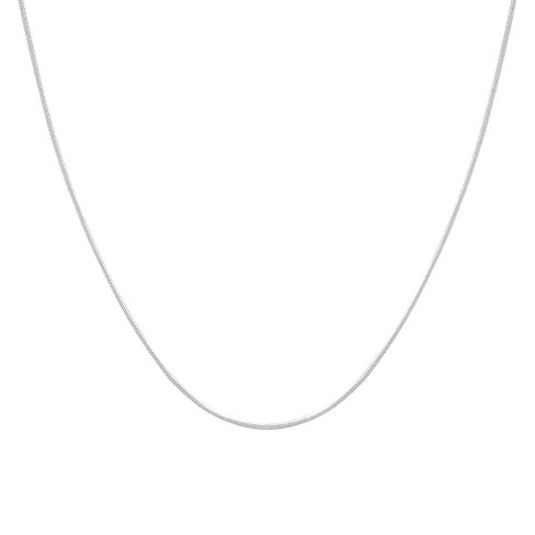 "Men's Silver Snake Chain Necklace 16"" - image 1 of 1"