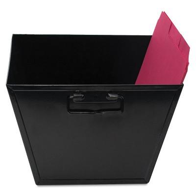 Advantus Steel File and Storage Bin Letter 12 1/8 x 11 1/4 x 7 3/8 Black 63008
