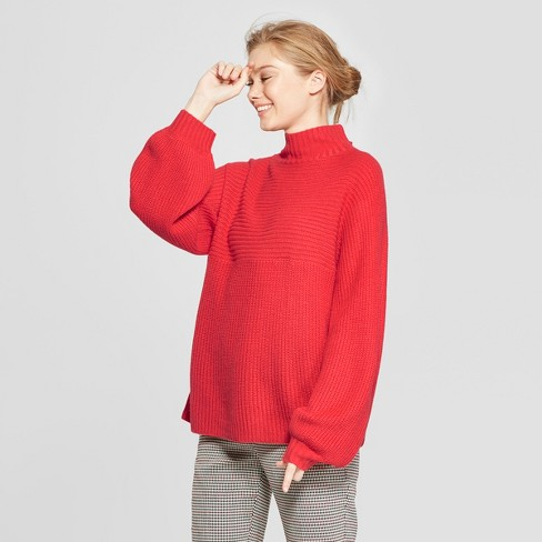 Women s Funnel Neck Pullover Sweater - A New Day™   Target 26552754c