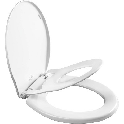 Mayfair Little2Big Never Loosens Round Plastic Children's Potty Training Toilet Seat with Slow Close Hinge - White