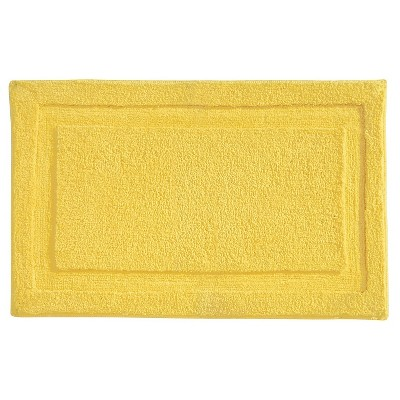 Microfiber Bathroom Shower Accent Rug - Yellow - 34  x 21  - InterDesign
