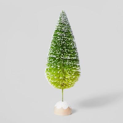 12in Bottle Brush Tree Decorative Figurine Green Ombre - Wondershop™