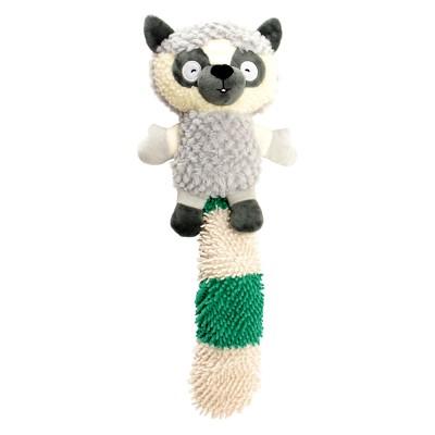 Lemur Plush Squeaks Dog Toy - Green/Grey - M - Boots & Barkley™