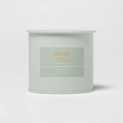 6oz Tin Jar Silver Pine Candle - Threshold™