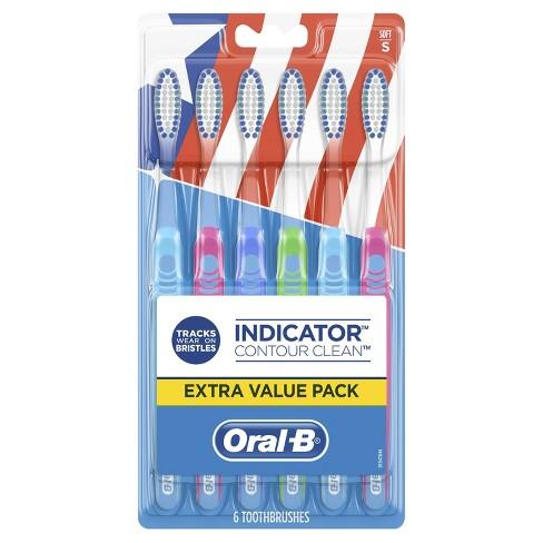 Oral-B Indicator Contour Clean Soft Bristle Manual Toothbrush - 6ct - image 1 of 4