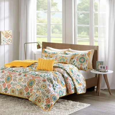 Eva Paisley Quilted Coverlet Set
