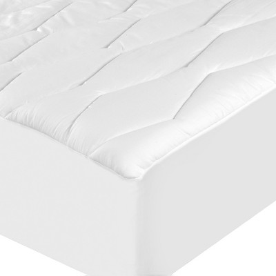 Queen Moisture-Wicking & Stain Release Mattress Pad White - Sealy