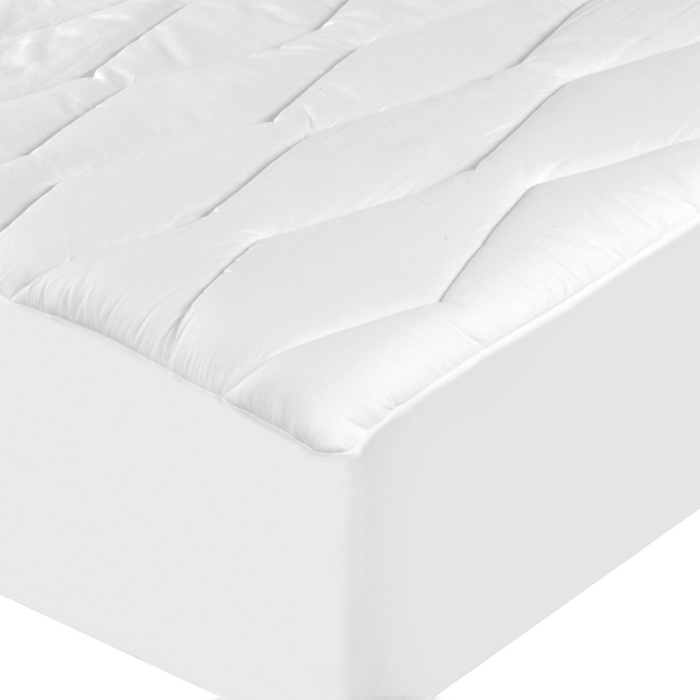 Image of Full Moisture-Wicking & Stain Release Mattress Pad White - Sealy
