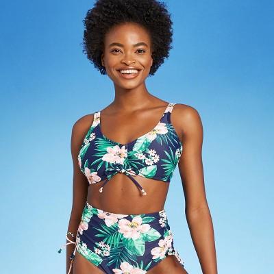 Women's Cinch-Front Sea Breeze Bikini Top - Kona Sol™ Navy