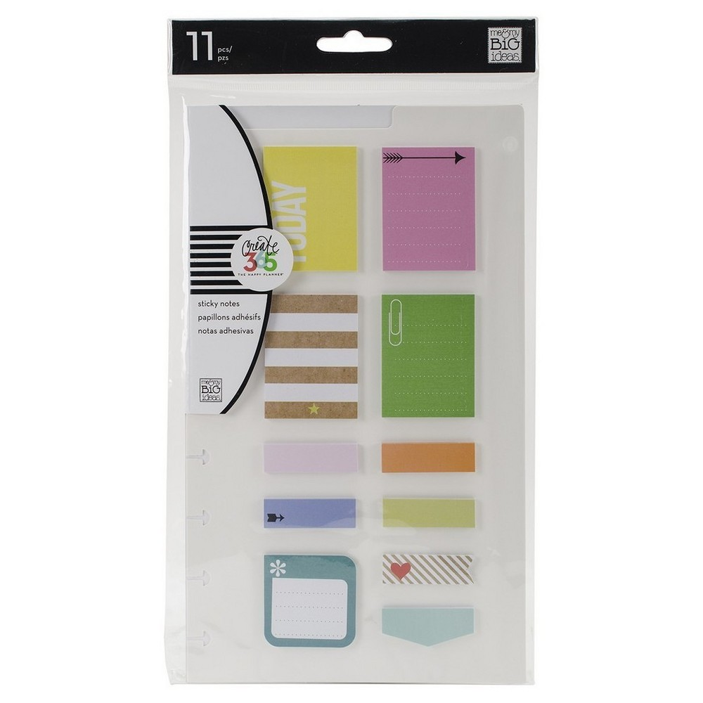 Create 365 Post Stickers Happy-Asst Colors/Sizes, Multi-Colored
