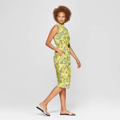 0a5d94dd53f77 Women s Floral Sleeveless Mock Turtle Neck Midi Dress - Prologue™ White M    Target