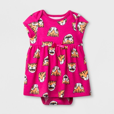 Baby Girls' Ruffle A-Line Dress - Cat & Jack™ Pink Baby
