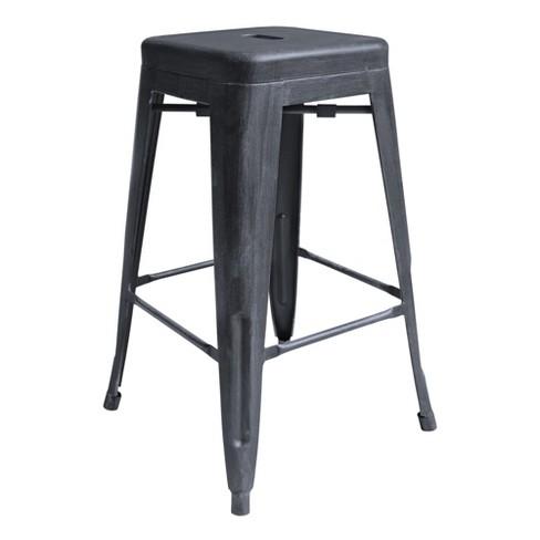 Admirable 28 Zed Industrial Barstool Gray Armen Living Theyellowbook Wood Chair Design Ideas Theyellowbookinfo