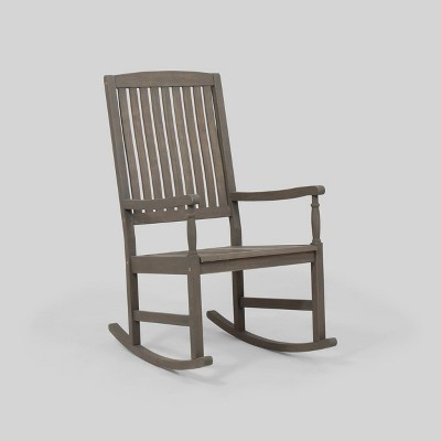 Arcadia Acacia Wood Rocking Chair - Christopher Knight Home