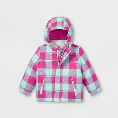 Toddler Girls' Plaid 3-in-1 Jacket - Cat & Jack™ Pink/Blue