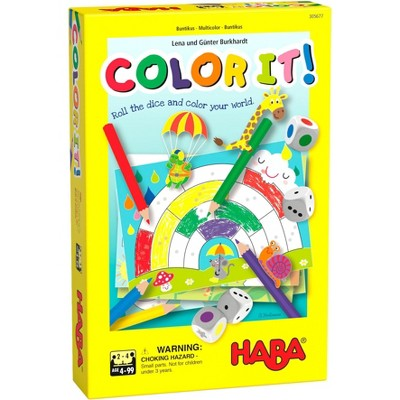 HABA Color It! - A Roll & Color Game with 2 Variants for Ages 4+