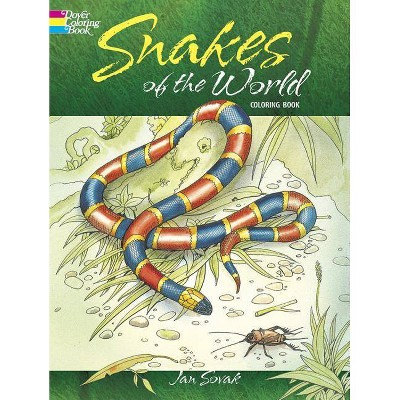 Snakes of the World Coloring Book - (Dover Nature Coloring Book) by  Jan Sovak (Paperback)