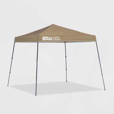 Quik Shade Solo Steel 9x9 Slant Leg Canopy - Khaki