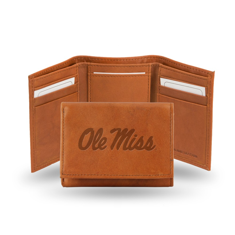Ole Miss Rebels Rico Industries Embossed Leather Trifold Wallet