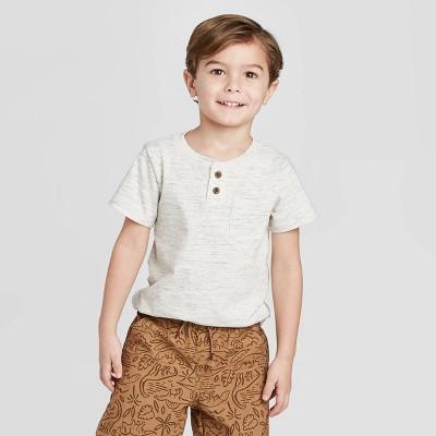 Toddler Boys' Henley T-Shirt - Cat & Jack™ Cream