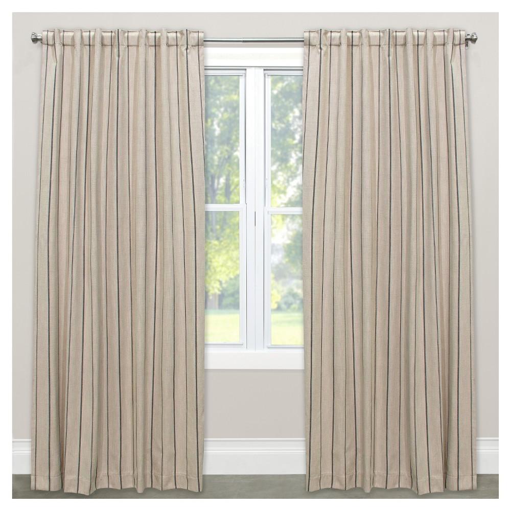 Window Curtain Panels Stripe Khaki (50