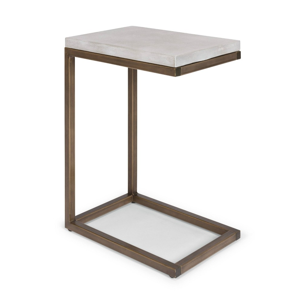 Geometric PullUp Table Chalky White - Home Styles