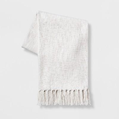 Solid Cotton Throw Blanket White - Threshold™