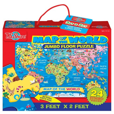 Map of the World 24pc Floor Puzzle - image 1 of 2