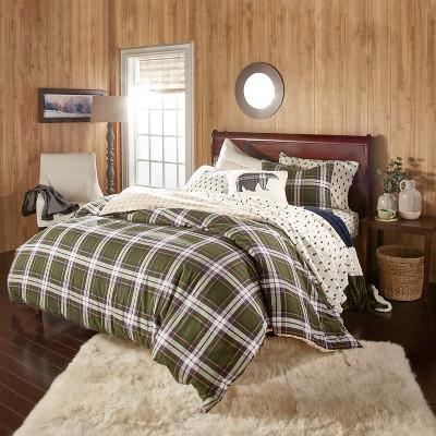 3Pc Newfield Plaid Comforter Set Green - G.H. Bass