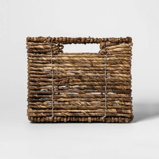 "MidTone Small Milk Crate Dark Taupe 8""x10"" - Threshold™"