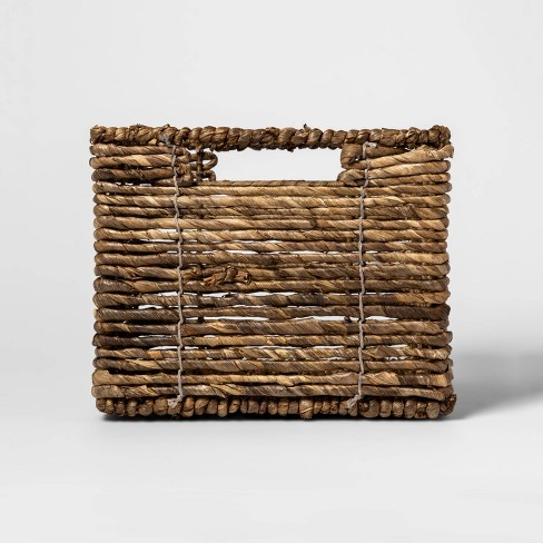 "MidTone Small Milk Crate Dark Taupe 8""x10"" - Threshold™ - image 1 of 3"