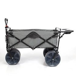 Mac Sports Collapsible Heavy Duty All Terrain Utility Wagon w/ Table, Gray